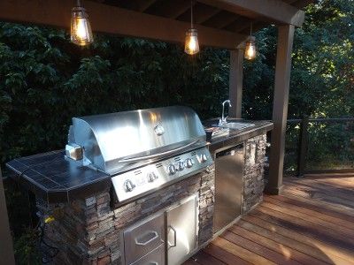 power to outdoor kitchen
